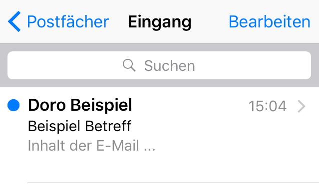iOS Namenseinstellung