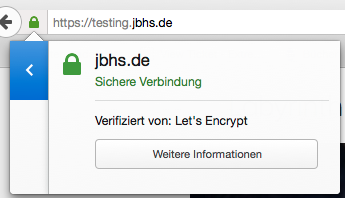 Beispiel Let`s Encrypt